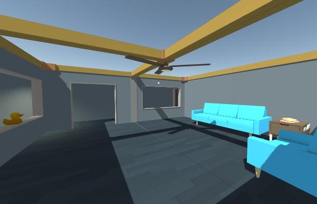 Ambiente virtual do Mozilla Hubs (Foto: Reprodução)