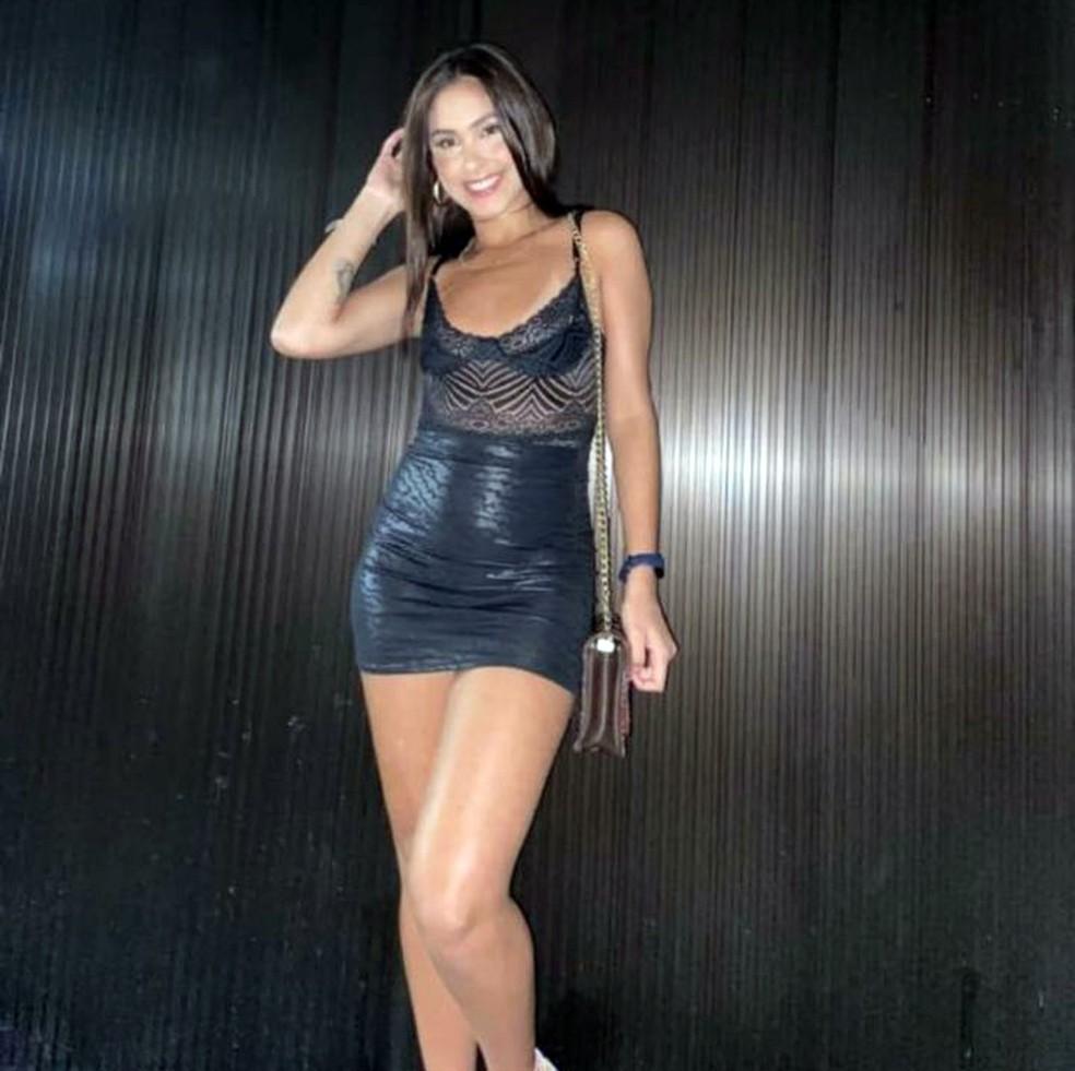 Carolina Oliveira morreu após explosão na Rocinha — Foto: Reprodução
