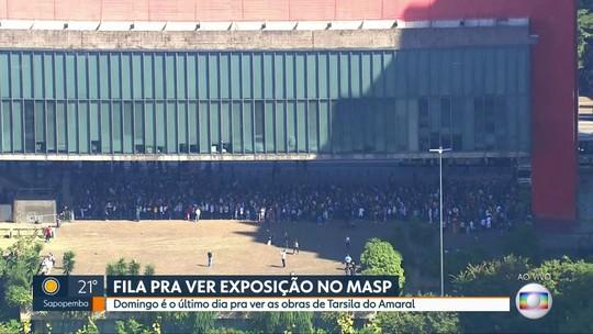 Obras de Tarsila do Amaral ficam até domingo (28) no MASP