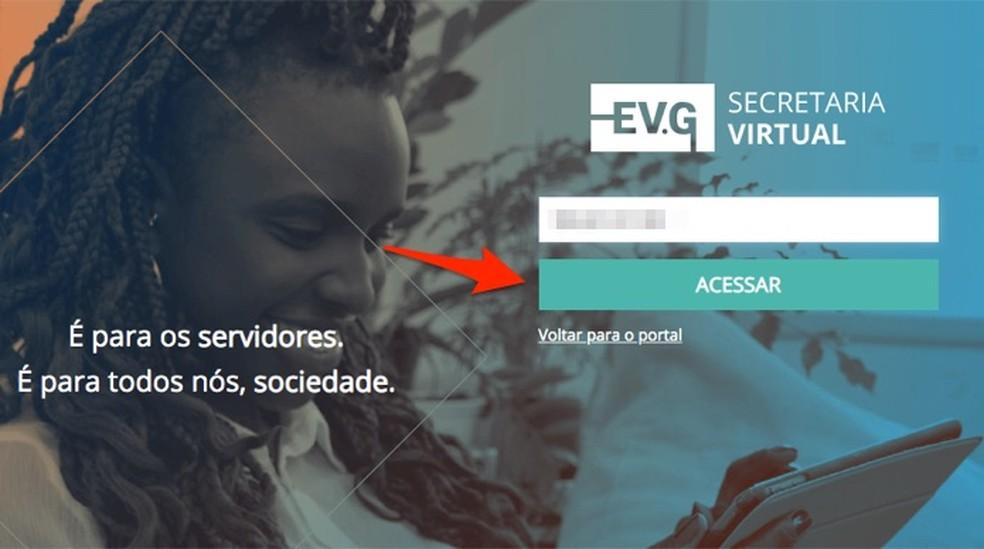 Ação para tentar acessar a página de cursos online do Governo Federal — Foto: Reprodução/Marvin Costa