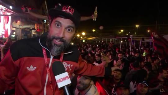 Flamenguistas em Portugal, terra de Jorge Jesus, comemoram título da Copa Libertadores