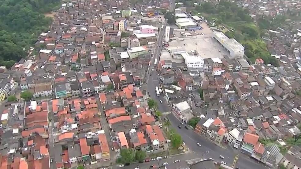 Caso ocorreu no bairro do Cabula, em Salvador (Foto: Reprodução/TV Bahia)