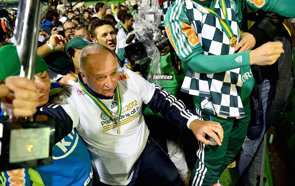 Palmeiras jogou a Libertadores de 2013 por ter sido campeão da Copa do Brasil de 2012, mas caiu no Brasileirão daquele ano — Foto: Marcos Ribolli