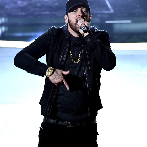HOLLYWOOD, CALIFORNIA - FEBRUARY 09: Eminem performs onstage during the 92nd Annual Academy Awards at Dolby Theatre on February 09, 2020 in Hollywood, California. (Photo by Kevin Winter/Getty Images) (Foto: Getty Images)