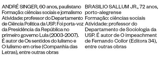 ANDRÉ SINGER e BRASILIO SALLUM JR (Foto: Época)