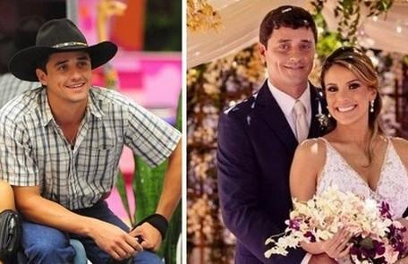 Fael, vencedor do 'BBB' 12, comprou duas fazendas com o prêmio do reality e se casou com a cirurgiã-dentista Anna Flavia em Mato Grosso do Sul Reprodução