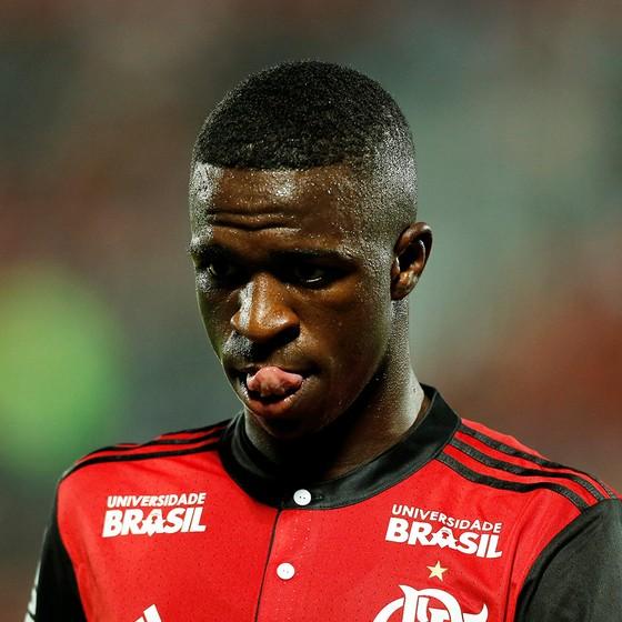 Vinicius Júnior foi vendido ao Real Madrid antes dos 18 anos, por R$ 166 milhões, mais que o Santos recebeu por Neymar (Foto: ANTONIO SCORZA/AGÊNCIA O GLOBO)
