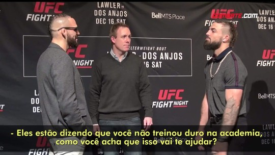 "Perry provoca Ponzinibbio, que responde com ""hadouken""em Media Day do UFC"