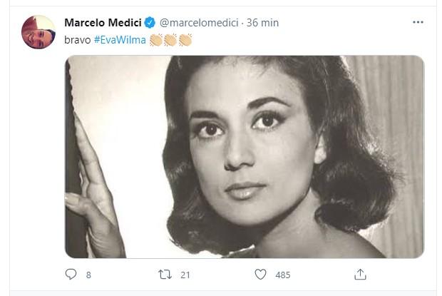 Marcelo Médici: homenagem para Eva Wilma (Foto: Reprodução Instagram)