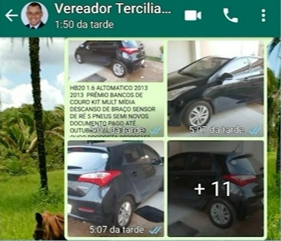 Homem aplica golpe usando nome de vereador — Foto: Reprodução/TV Anhanguera