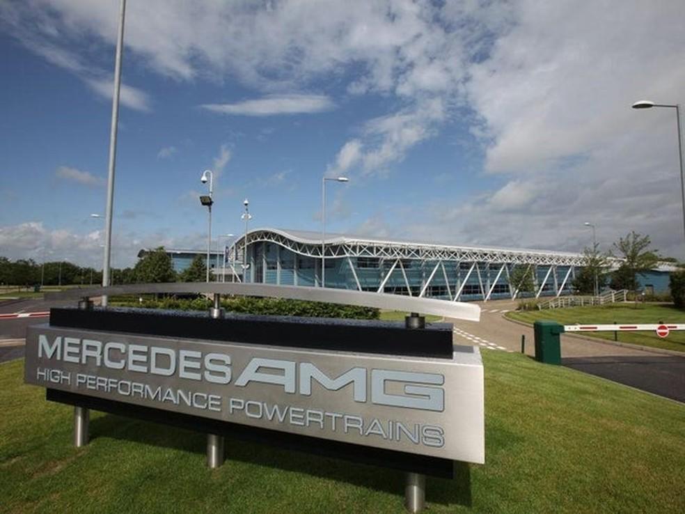 Fábrica da Mercedes, em Brixworth, na Inglaterra — Foto: Divulgação