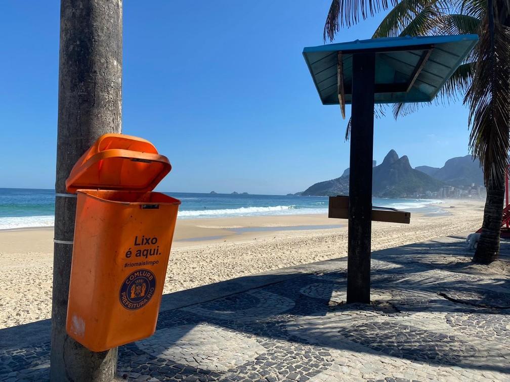 Coleta de lixo nas praias do Rio teve redução após a pandemia — Foto: Matheus Rodrigues/G1 Rio