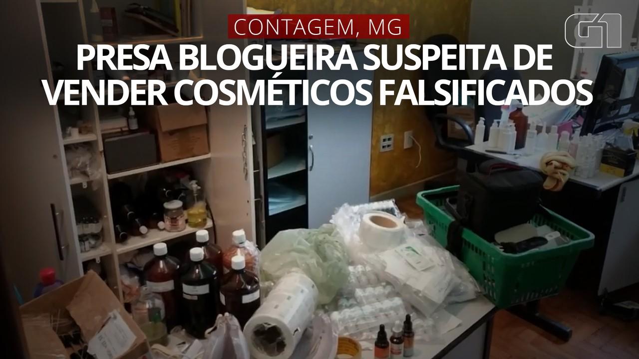 VÍDEO: Polícia prende em Contagem blogueira suspeita de vender cosméticos falsificados