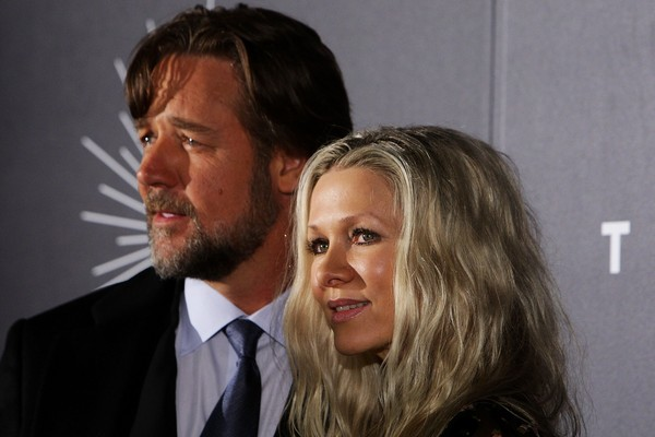 O ator Russell Crowe com a ex-esposa, a atriz Danielle Spencer (Foto: Getty Images)