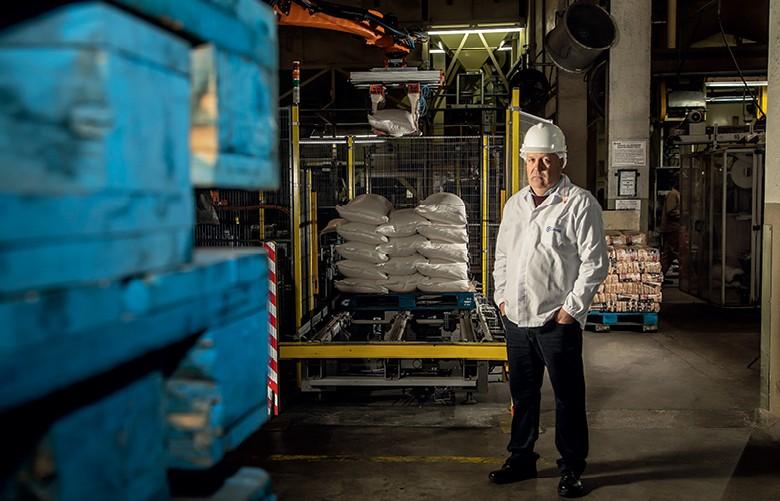 José Alberto Thurmer, gerente da unidade de beneficiamento de arroz da Camil Alimentos (Foto: Marcelo Curia)