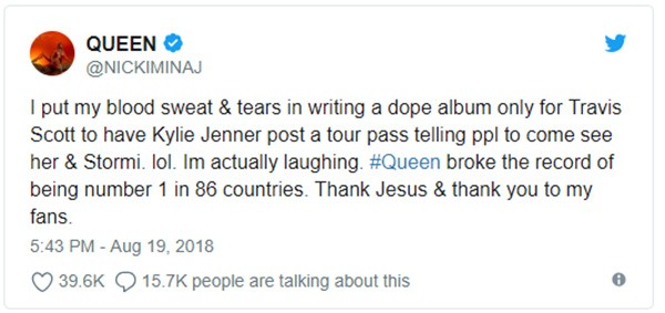 Nicki Minaj (Foto: Twitter)