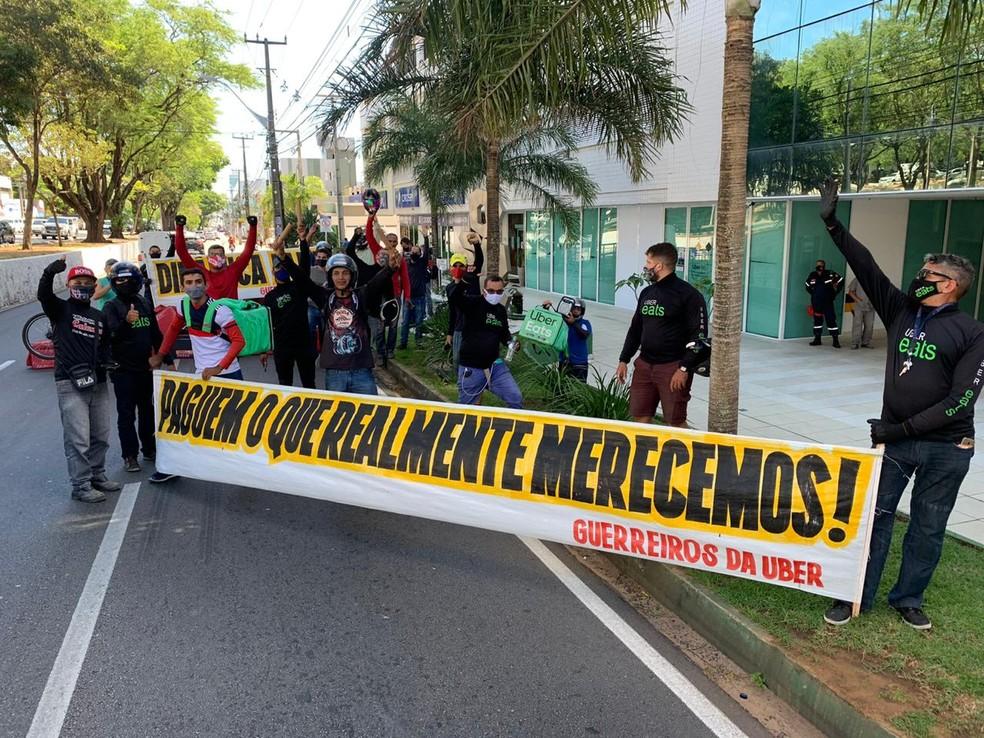 Principal reivindicação é o repasse do valor da taxa de entrega  — Foto: Anna Alyne Cunha/Inter TV Cabugi