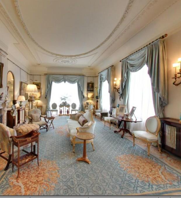 Interior da casa do Príncipe Charles: sala da manhã (Foto: Google Arts&Culture/ Reprodução)