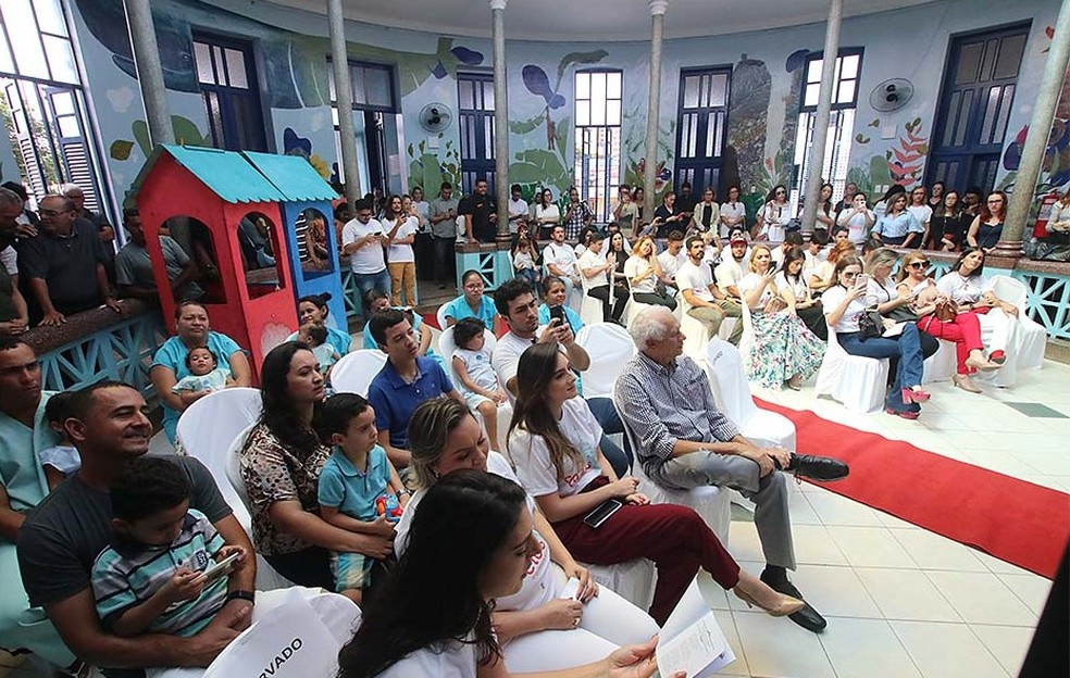 Evento para comemorar reforma aconteceu nesta quarta-feira (29) — Foto: Canindé Soares