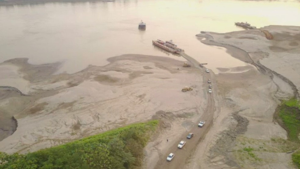Seca do Rio Madeira interfere no Acre   (Foto:  Lincoln Miranda/Arquivo pessoal)
