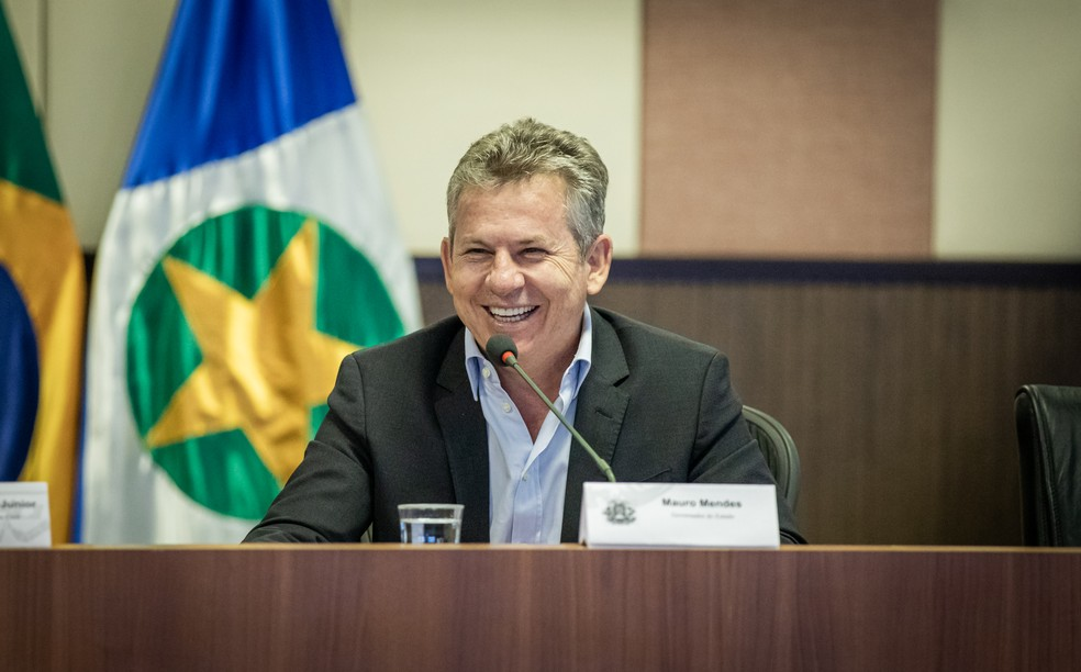 Governador Mauro Mendes — Foto: Christiano Antonucci/Secom-MT