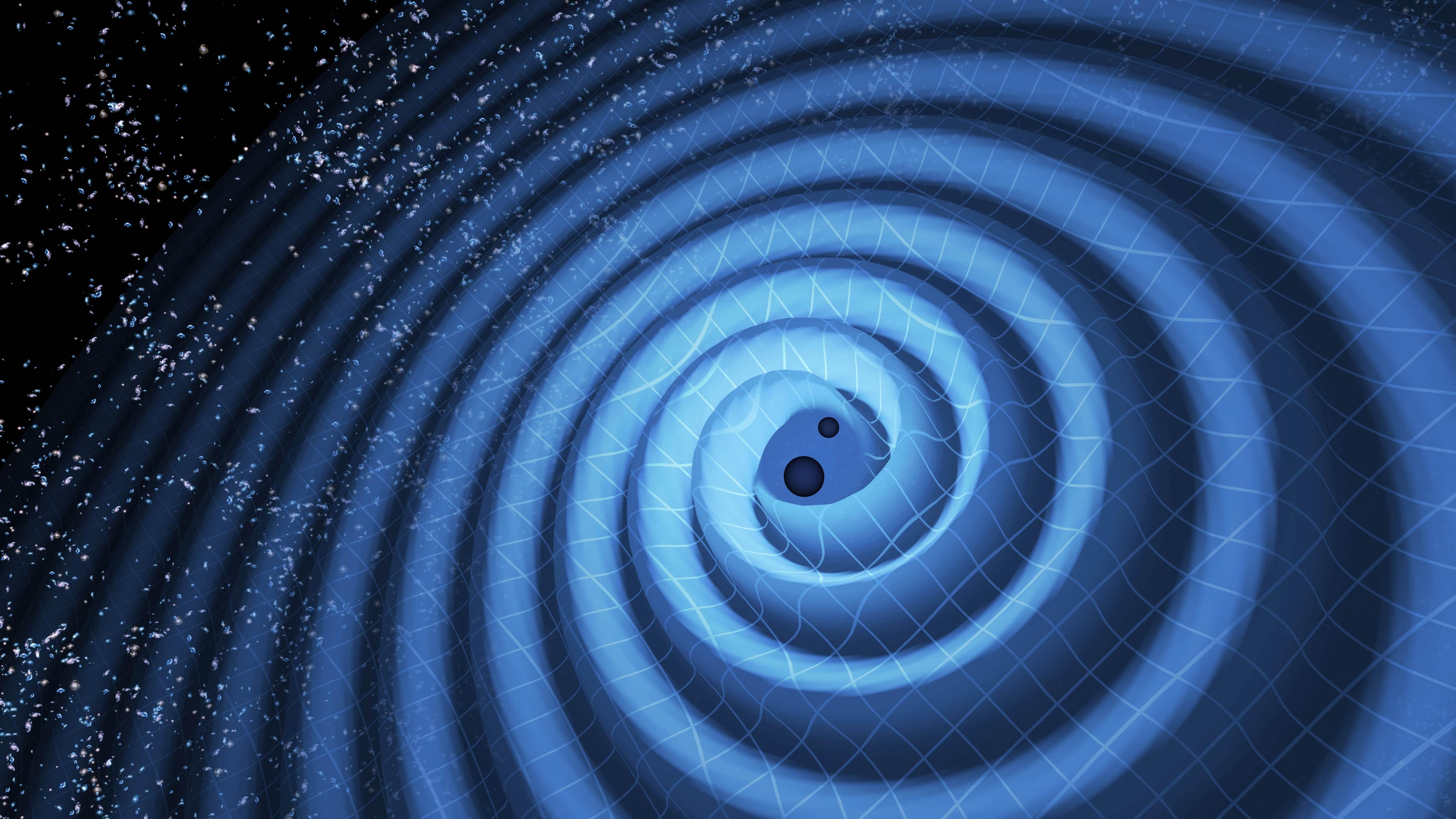 Ondas gravitacionais também foram detectadas pelos cientistas (Foto: LIGO / T. Pyle)