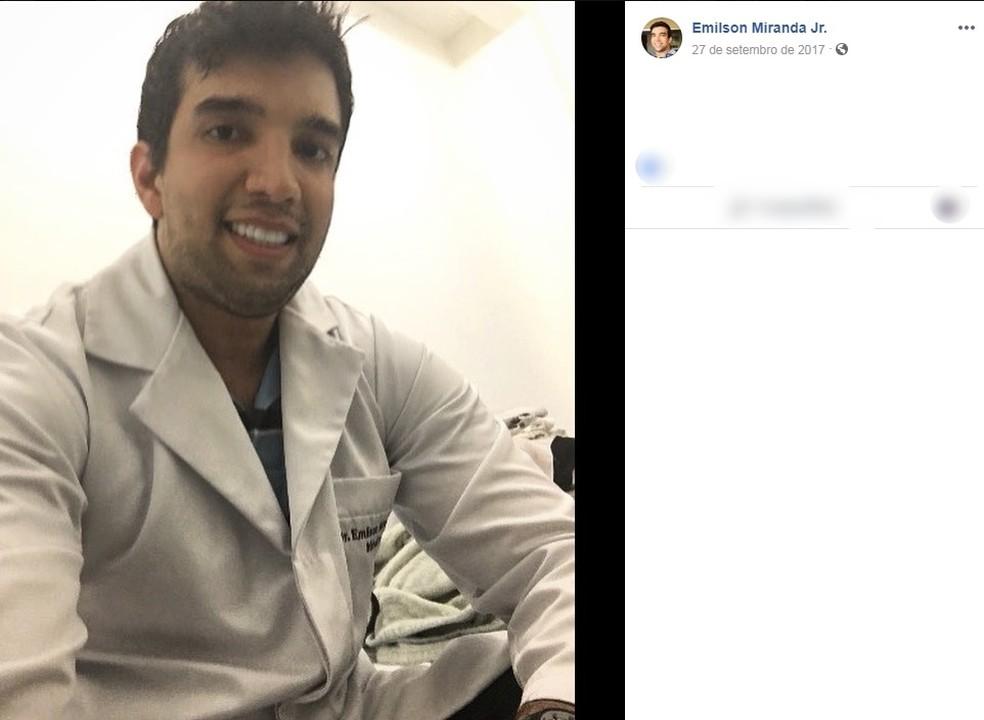 Médico Emilson Miranda Júnior, de 30 anos, já é réu em um processo por agressão. — Foto: Arquivo Pessoal