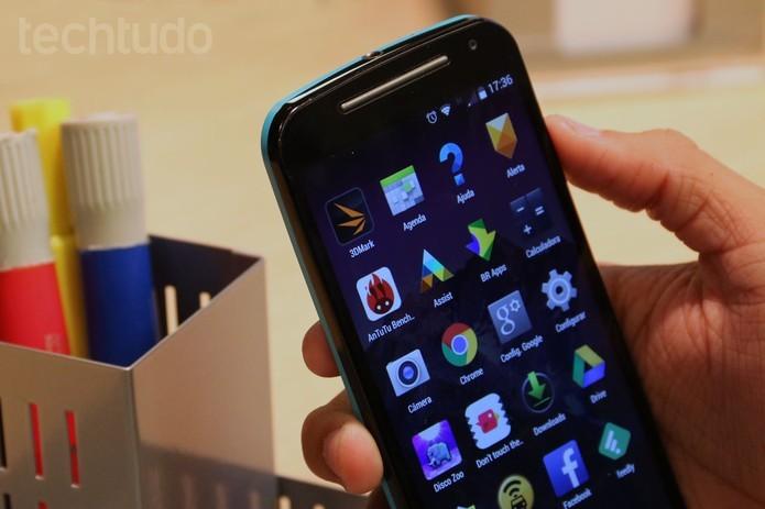 Moto G tem o display melhor do que o Gran Prime (Foto: Isadora Díaz/TechTudo)