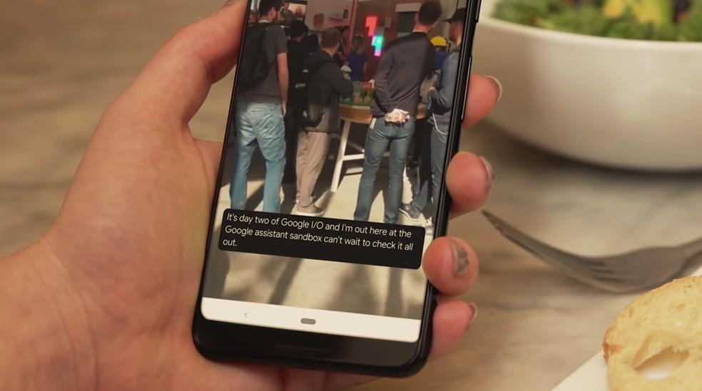 Recurso Live Caption permitirá legendar vídeos e áudios utilizando inteligência artificial — Foto: Reprodução/Google