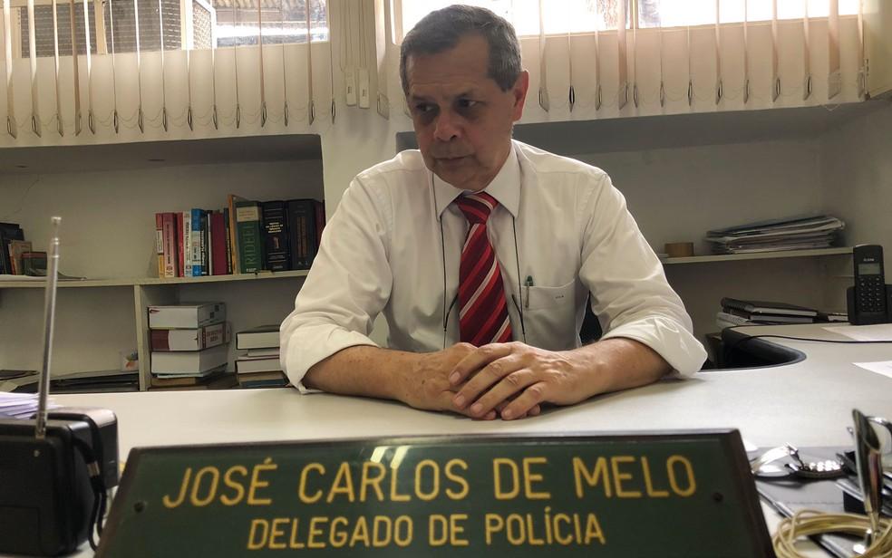Delegado José de Melo entende que caso foi de feminicídio (Foto: Kleber Tomaz/G1)
