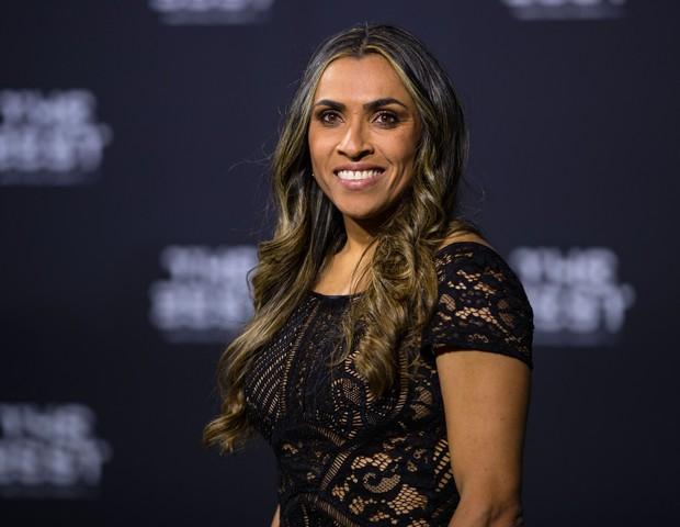 Marta no prêmio de Melhor Jogadora do Mundo da FIFA (Foto: Getty Images)