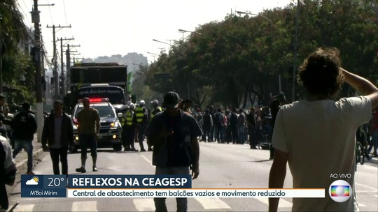 Ceagesp comercializa só 10% do volume de produtos com greve de caminhoneiros