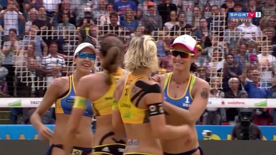 Superada por campeãs olímpicas, Ágatha/Duda é prata na Alemanha