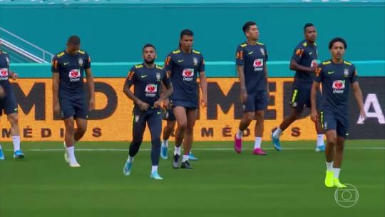 Seleção Brasileira faz o último treino antes de enfrentar a Colômbia em um amistoso