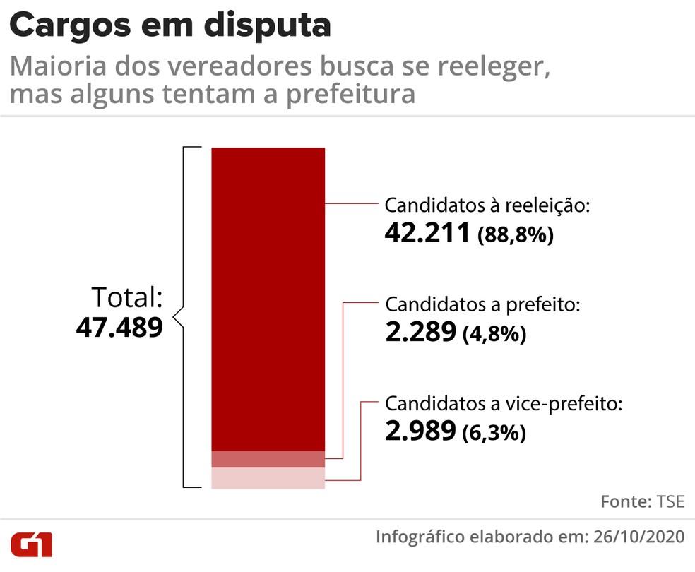 Vereadores eleitos que se candidatam novamente em 2020 por cargo disputado — Foto: Élcio Horiuchi/G1