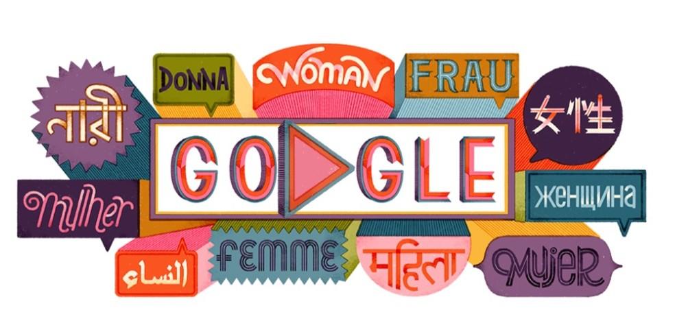 Doodle do Google celebra o Dia Internacional da Mulher 2019 — Foto: Reprodução/Google
