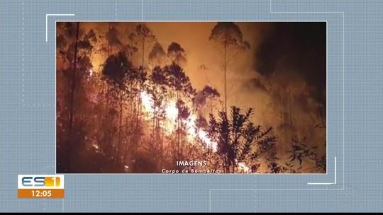 Oito ocorrências de incêndios são registradas pelos bombeiros em 24h no Sul do ES