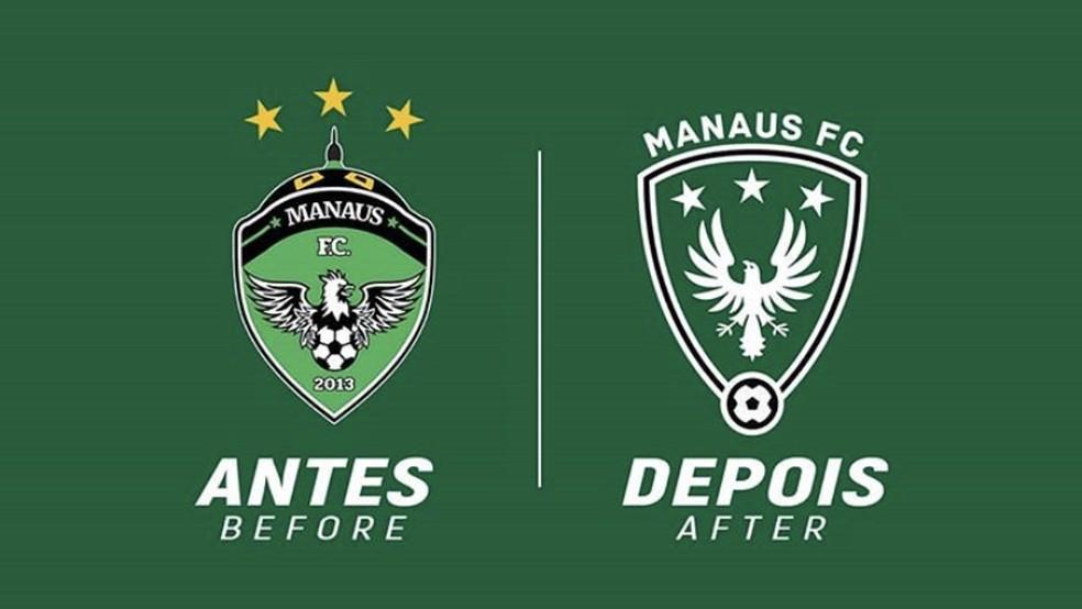 Designer redesenhou escudo do Manaus FC — Foto: Reprodução/Lucas Carvalho