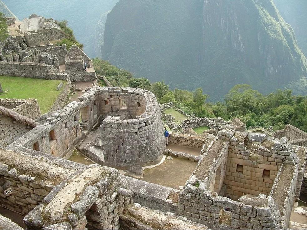 O Templo do Sol está localizado do setor religioso, no sítio arqueológico de Machu Picchu — Foto: Pixabay