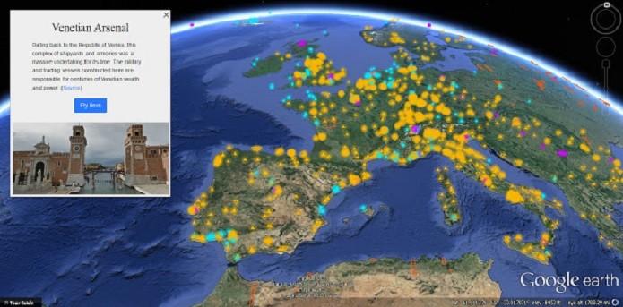 Google Earth lança novo recurso Voyageur para comemorar 10 anos (Foto: Divulgação/Google)