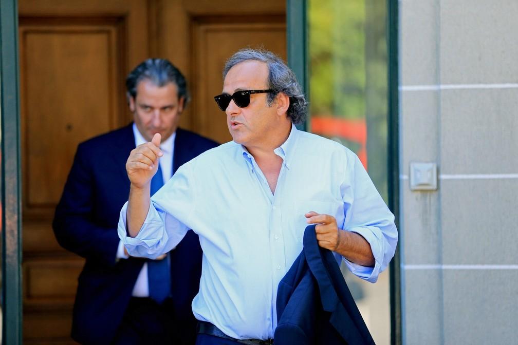 Michel Platini na sede do CAS em 2016 — Foto: REUTERS/Pierre Albouy