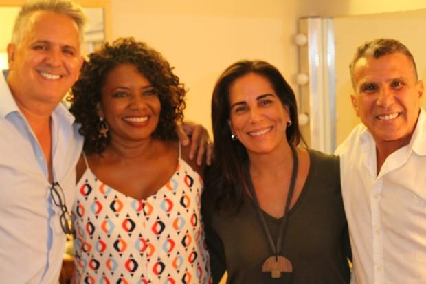 Orlando Morais, Margareth Menezes, Gloria Pires e Eri Johnson (Foto: Wallace Barbosa/AgNews)