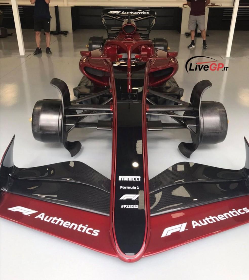Carro de 2022 da F1 — Foto: LiveGP.it