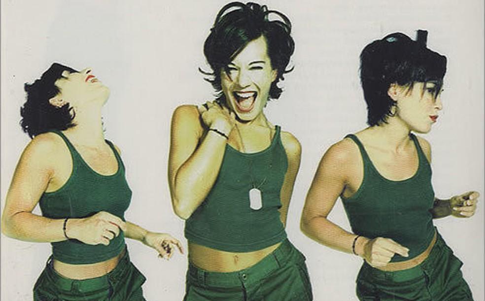 Alexia na capa do álbum 'The Party', de 1998 — Foto: Divulgação