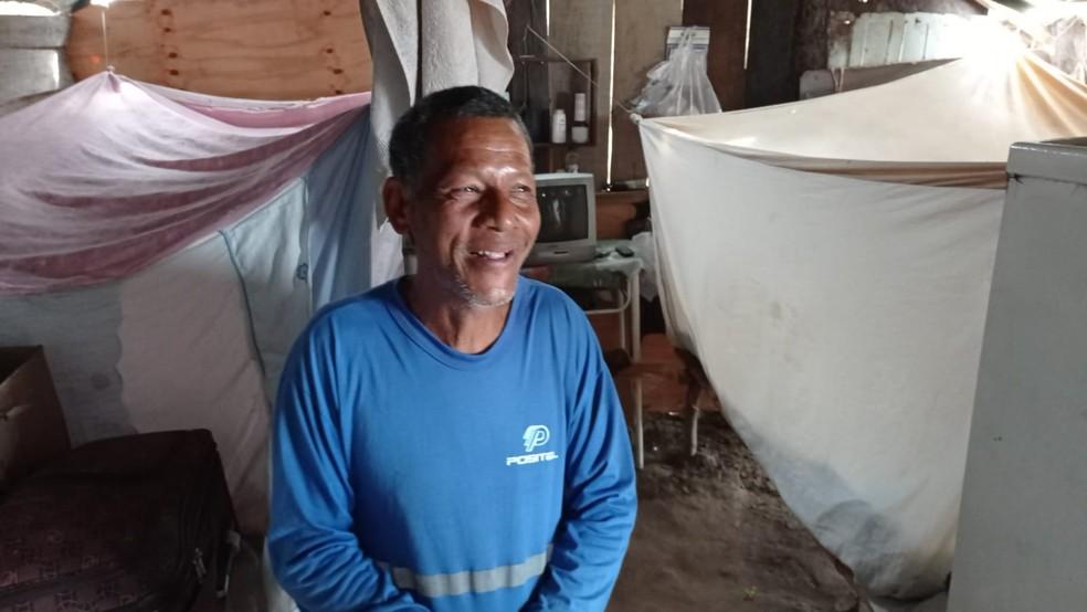 Aparecido, ribeirinho no Pantanal de MS — Foto: Anderson Viegas/TV Morena