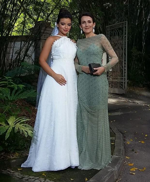 Mãe e filha na ficção: Gabriela Mustafá e Ana Barroso em cena de 'O Outro Lado do Paraíso' (Foto: Divulgação)