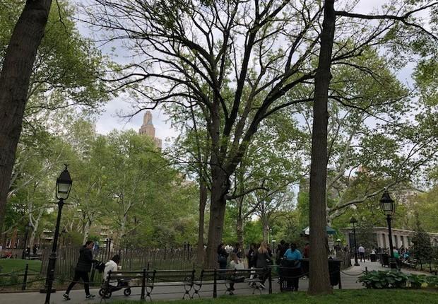 Washington Square Garden, próximo à Universidade de Nova York (Foto: Fernanda Lopes)