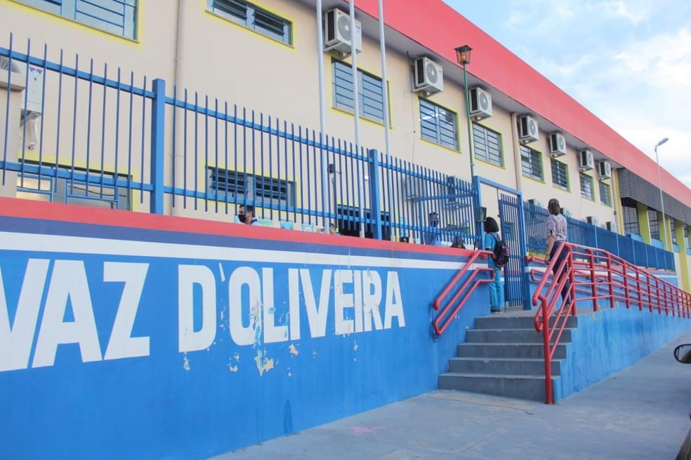 As aulas na Escola Estadual Maria do Céu Vaz D' Oliveira, na Zona Norte de Manaus, foram retomadas nesta quarta-feira (12). — Foto: Eliana Nascimento/G1 AM