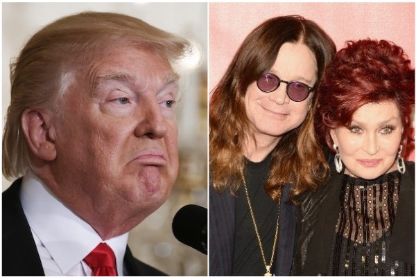 Donald Trump / Ozzy e Sharon Osbourne (Foto: Getty Images)
