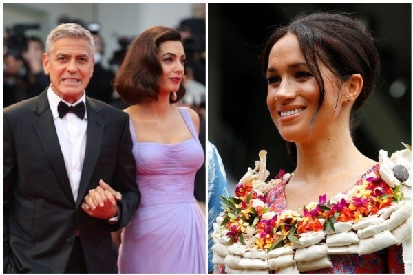 George e Amal Clooney e Meghan Markle (Foto: Getty Images)